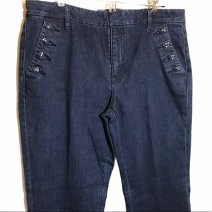 TOMMY HILFIGER Jeans Sailor High Rise Wide Leg Nwt